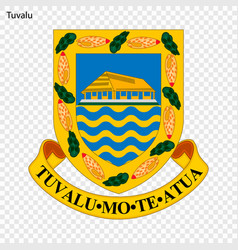 Emblem tuvalu vector