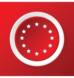 EU symbol icon on red vector image