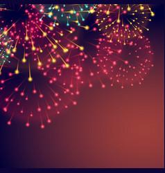 fireworks background for diwali festival vector image