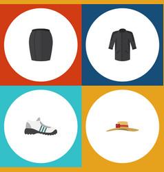 flat icon garment set of sneakers elegant vector image