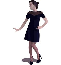 Girl in black vector