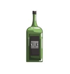 Green glass bottle of scotch vector