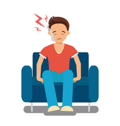 Guy suffering from toothache vector