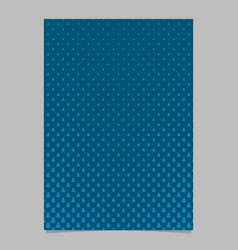 halftone pine tree pattern brochure template vector image