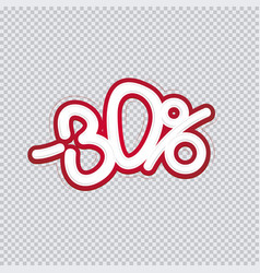 hand writing 30 percent discount sale banner vector image