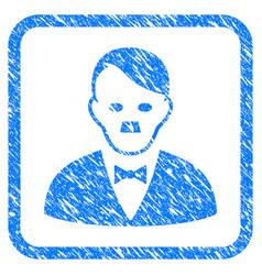 Hitler manager framed grunge icon vector
