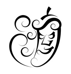 Hot pepper great design for any purposes healthy vector