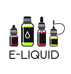 Icons of e liquid vector
