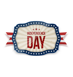 independence day realistic festive tag vector image