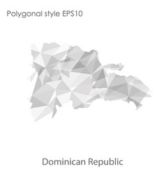 Isolated icon dominica republic map polygonal vector