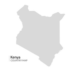 kenya map silhouette country vector image
