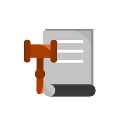 Legal document law hammer business finance vector