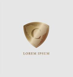 Letter c alphabet logo design template luxury vector