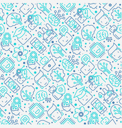 Machine learning seamless pattern vector