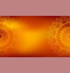 mandalas pattern on orange background vector image