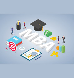 Mba master business administration concept vector