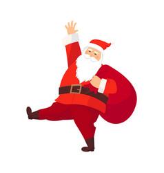 merry santa claus smiling cartoon old man in vector image
