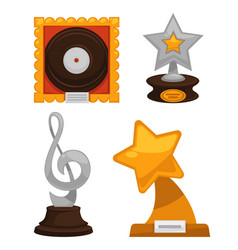 Mtv music awards for being a great artist set vector