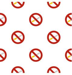No smoking pattern flat vector