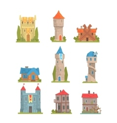 Old And Medieval Historical Buildings Collection vector