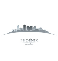 Phoenix Arizona city skyline silhouette vector