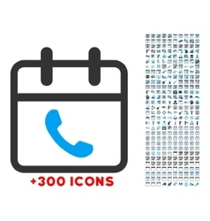 Phone Support Date Icon vector