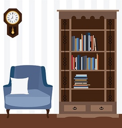 Reading room vector image