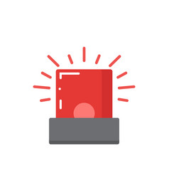 Red flashing emergency vector