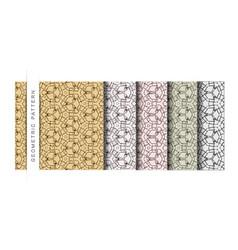 Set geometric pattern wallpaper pattern bac vector