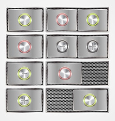 Set of ONOFF switch buttons vector image
