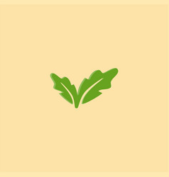 simple leaf logo design symbol dan icon template vector image