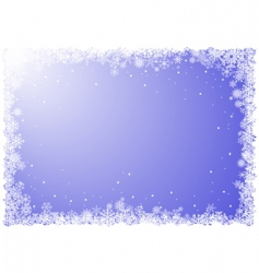 snowflakes frame vector image
