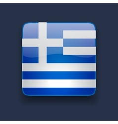 Square icon with flag of Greece vector
