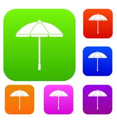 sun umbrella set collection vector image