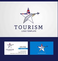 Travel british antarctic territory flag creative vector