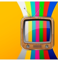 TV no signal background vector
