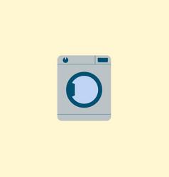 washing machine icon flat element vector image