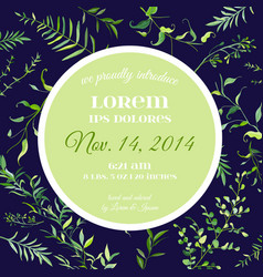 Wedding invitation or congratulation floral card vector