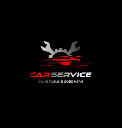 wheel repair service tire storage company sign vector image
