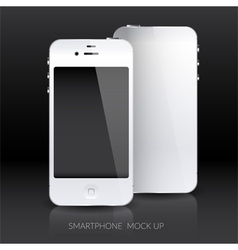 White smartphone mock up vector