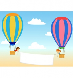 cartoon aerostat vector image vector image