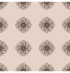 Seamless Damask wallpapern vector image