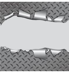 torn metal vector image vector image