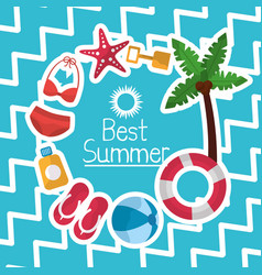 best summer poster vacations travel tourism vector image