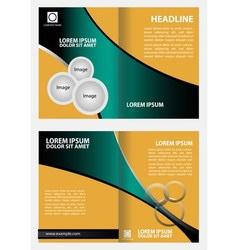 Brochure template design business leaflet bookle vector image vector image