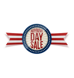 Independence day sale circle banner vector