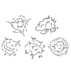 Set of exlposion clouds vector image vector image