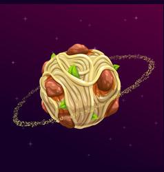 Spaghetti planet concept vector