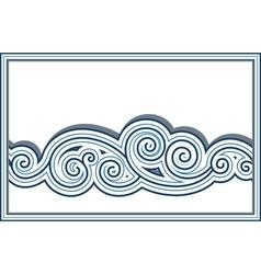 Wave border vector image