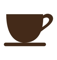 brown coffee cup graphic vector image vector image